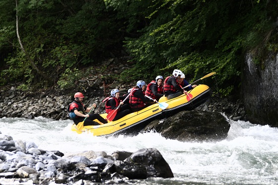 Rando-Rafting;Parcours rafting groupe Giffre